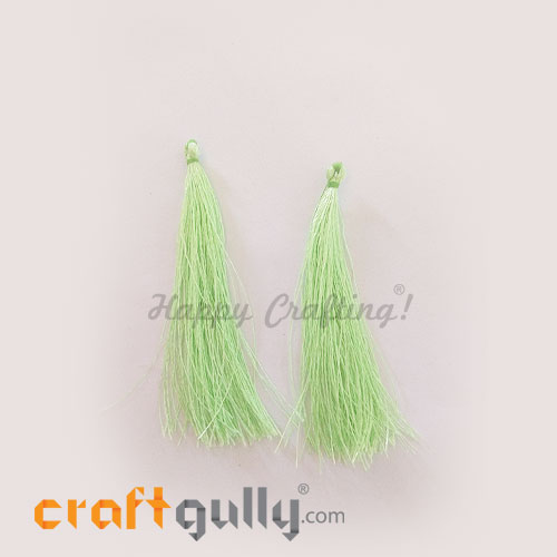 Tassels 80mm - Pistachio Green - Pack of 2