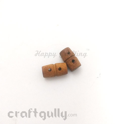Buttons Wooden #6 - 16mm Toggle - 2 Buttons