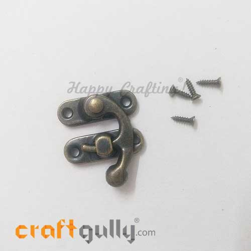 Miniature Locks #3 - 27.5mm - Bronze Finish - 1 Set