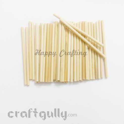 Craft Sticks 80mm - Natural - 50 Sticks