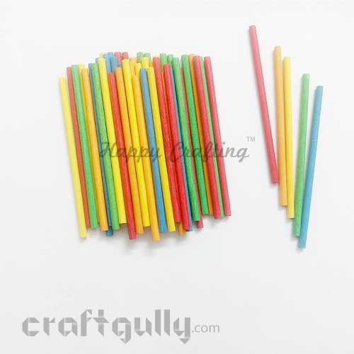 Craft Sticks 80mm - Mixed Colors - 50 Sticks