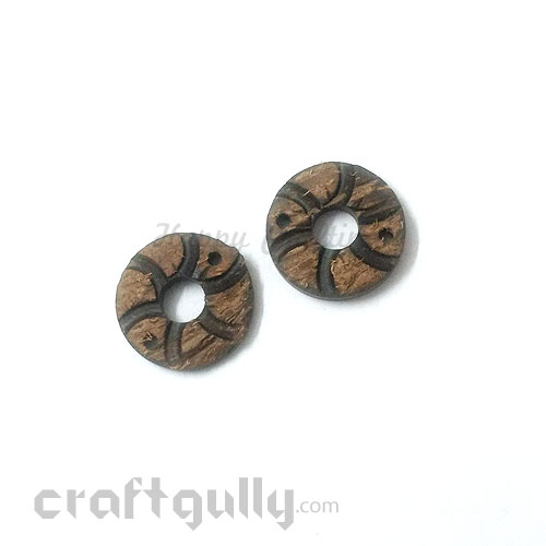 Buttons Coconut Shell #2 - 28mm Round - 2 Buttons