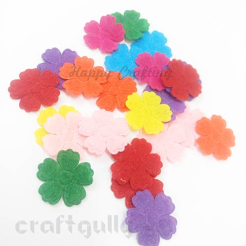Die-Cut Felt Flowers 24mm - Assorted #2 - 20 Flowers