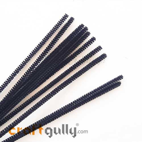 Pipe Cleaners - Black - Pack of 10