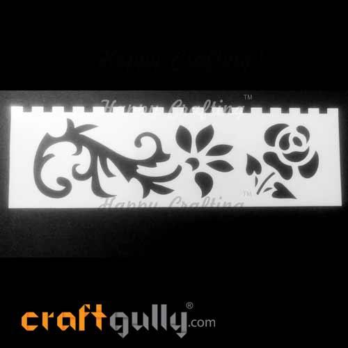 Stencils 185mm - Florals #6