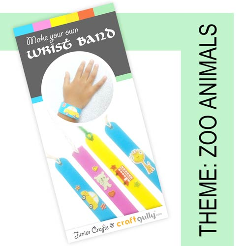 Make Your Own Wrist Bands - Zoo Animals Themed Kit