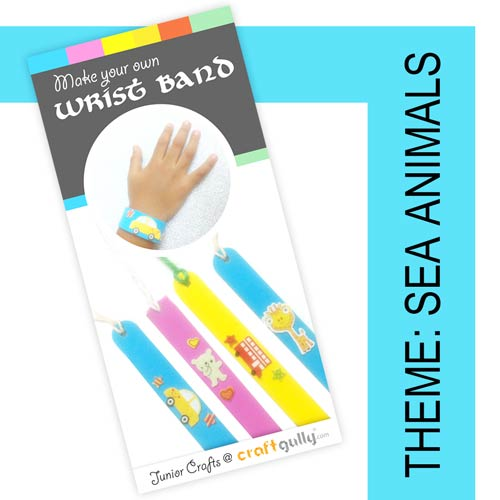 Make Your Own Wrist Bands - Sea Animals Themed Kit