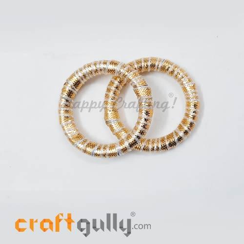 Designer Ring With Gota 39mm Rounded - Golden - 2 Rings