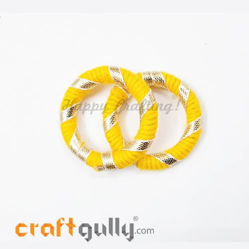 Designer Ring With Gota 39mm Rounded - Yellow - 2 Rings