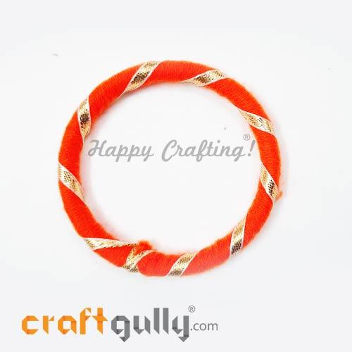 Designer Ring With Gota 76mm Flat - Orange - 1 Ring