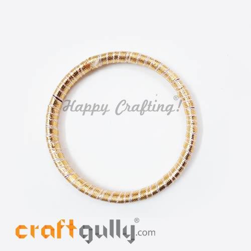 Designer Ring With Gota 72mm Rounded - Golden - 1 Ring