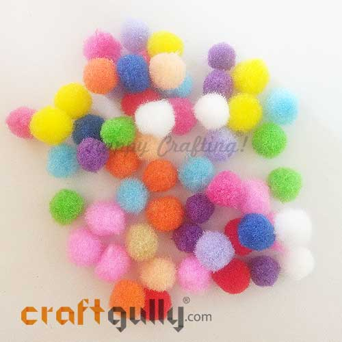 Pom Poms 10mm - Random Assorted - Pack of 50
