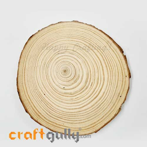 Wood Slice 130mm - Natural - Pack of 1