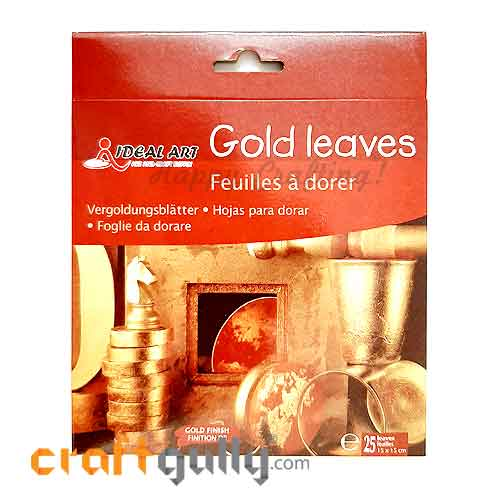 Gilding Gold Leaves - 15cms - Pack of 25