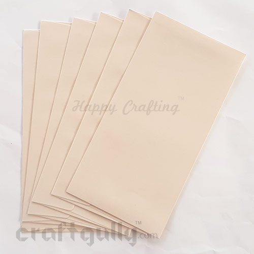 Envelopes DL Size - Metallic Cream - Pack of 6
