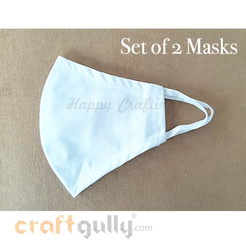 Masks - White - Pack of 2