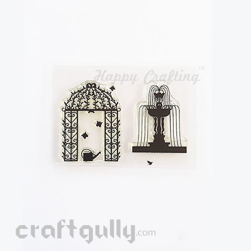 Clear Stamps #23 – 3x4 inches – Fountain