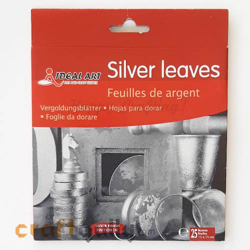 Gilding Silver Leaves - 15cms - Pack of 25