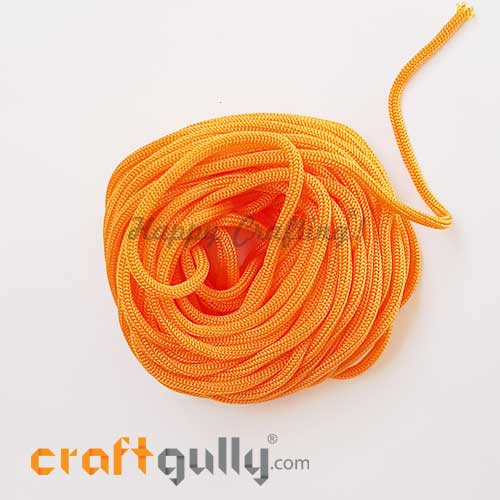 Cords 3mm Nylon - Macrame - Pumpkin Orange - 10 meters