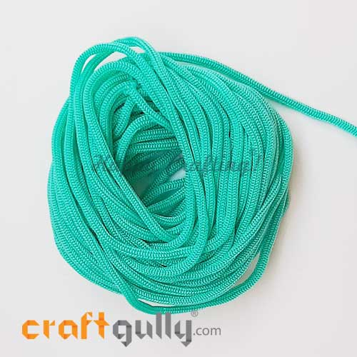 Cords 3mm Nylon - Macrame - Teal - 10 meters