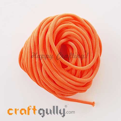 Cords 3mm Nylon - Macrame - Coral Orange - 10 meters