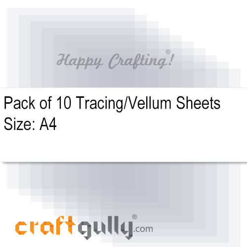 Papers A4 - Tracing /  Vellum - Pack of 10