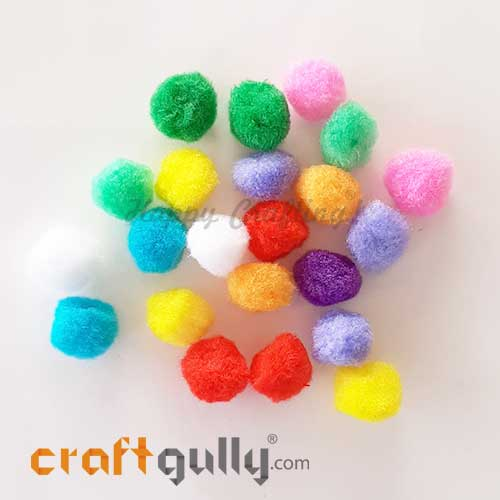 Pom Poms 20mm - Random Assorted - Pack of 20