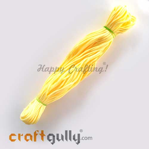 Cords 3mm Nylon - Macrame - Light Yellow - 150 gms