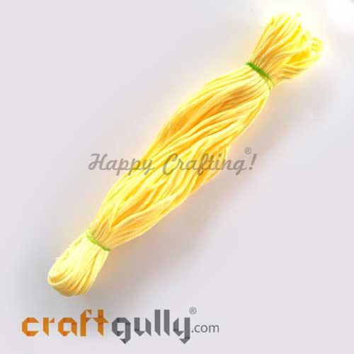 Cords 3mm Nylon - Macrame - Light Yellow - 150 gms