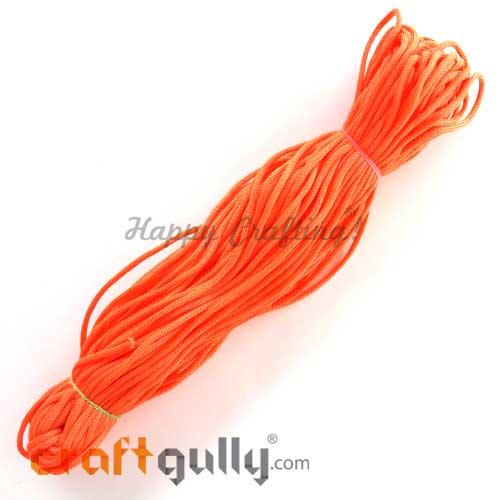 Cords 3mm Nylon - Macrame - Coral Orange - 150 gms