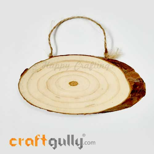 Wood Slice 195mm - Hanging Natural - Pack of 1