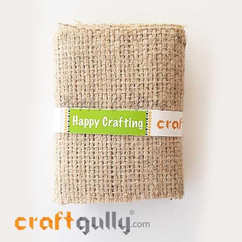 Fabric - Burlap / Jute Trim #2 - 4 inches - Natural - 1 meter