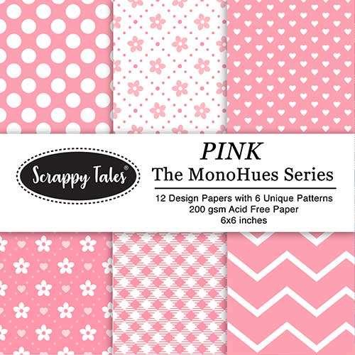 Pattern Paper 6x6 - MonoHues Series - Pink - Pack of 12