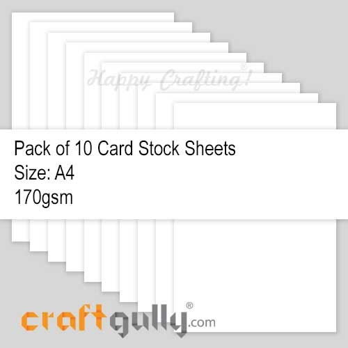 CardStock A4 - Snow White 170gsm - Pack of 10