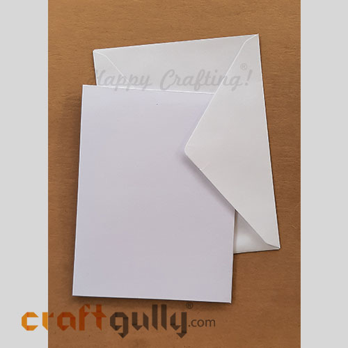 Blank Cards And Envelopes - White - 5 Sets