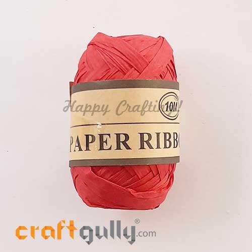 Paper Ribbons 5mm - Red - 10 meters