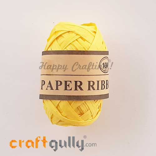 Paper Ribbons 5mm - Yellow - 10 meters