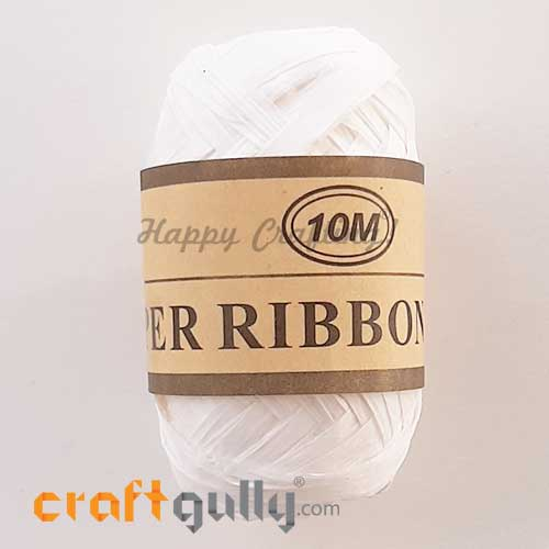 Paper Ribbons 5mm - White - 10 meters