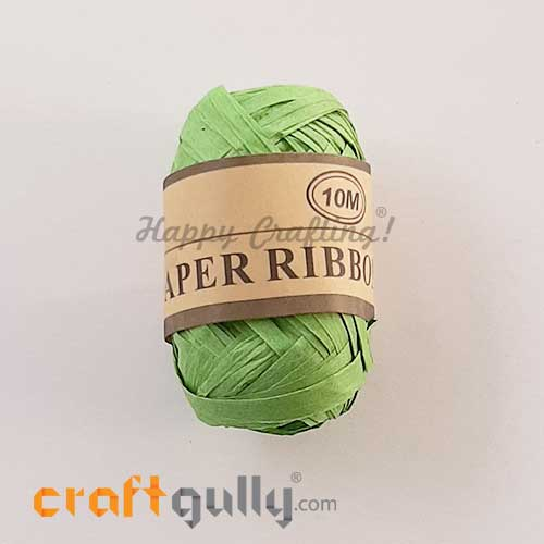 Paper Ribbons 5mm - Light Green - 10 meters