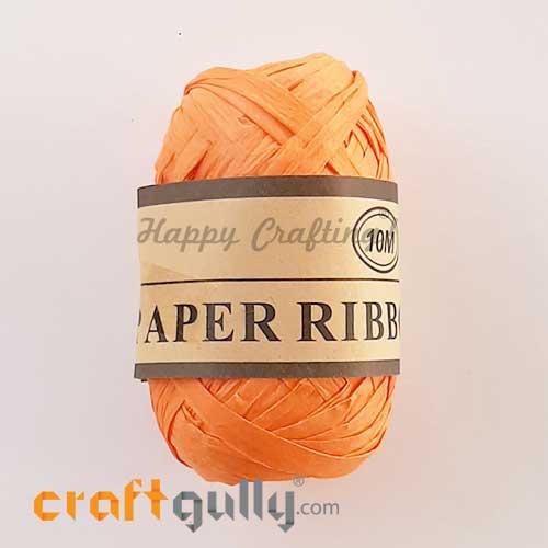 Paper Ribbons 5mm - Orange - 10 meters