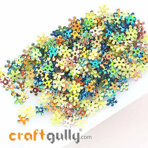 Sequins 5mm - Flower #2 - Assorted With Lustre - 20gms
