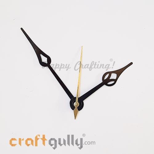 Clock Hands #4 - Black & Golden - Set Of 3 Hands