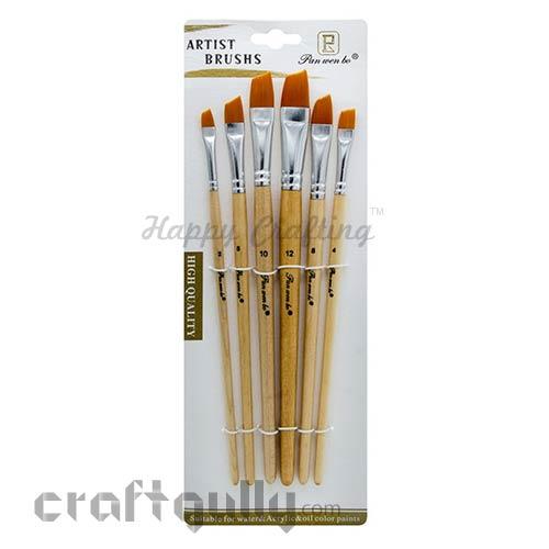 Brushes - Flat #3 - Angular - Set of 6