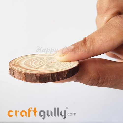 Wood Slice 35mm - Natural Thin - Pack of 1