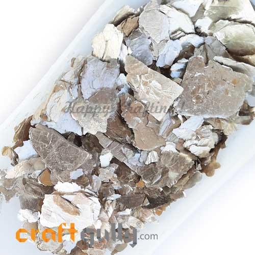 Mica Flakes - Metallic Silver - 20gms