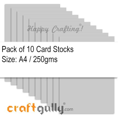 CardStock A4 - Grey 250gsm - Pack of 10