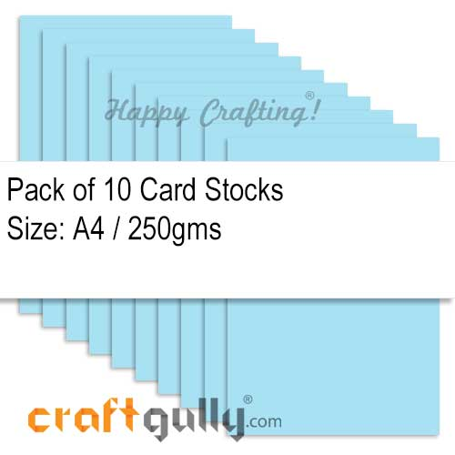CardStock A4 - Light Blue 250gsm - Pack of 10
