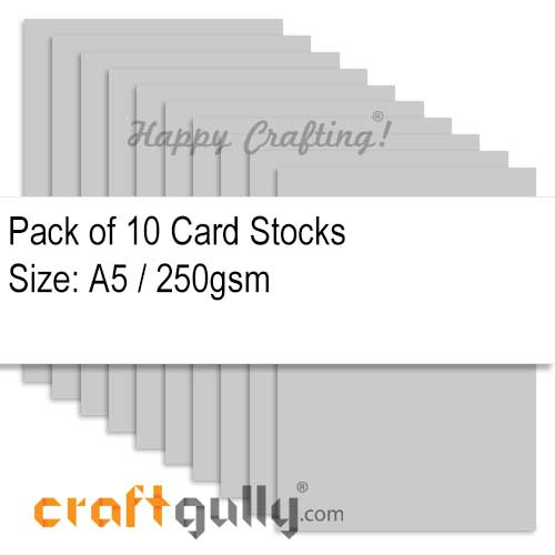 CardStock A5 - Grey 250gsm - Pack of 10