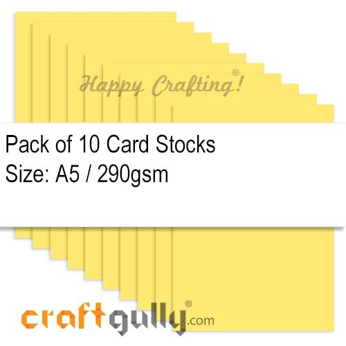 CardStock A5 - Golden Yellow 290gsm - Pack of 10