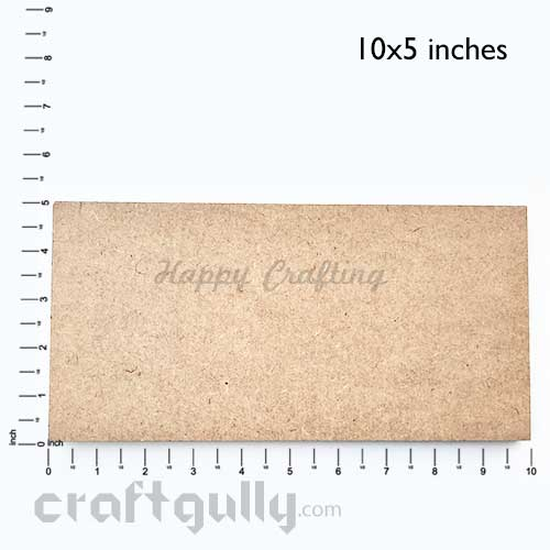 MDF Blank Bases 7mm - Rectangle 10x5 inches - Pack of 1